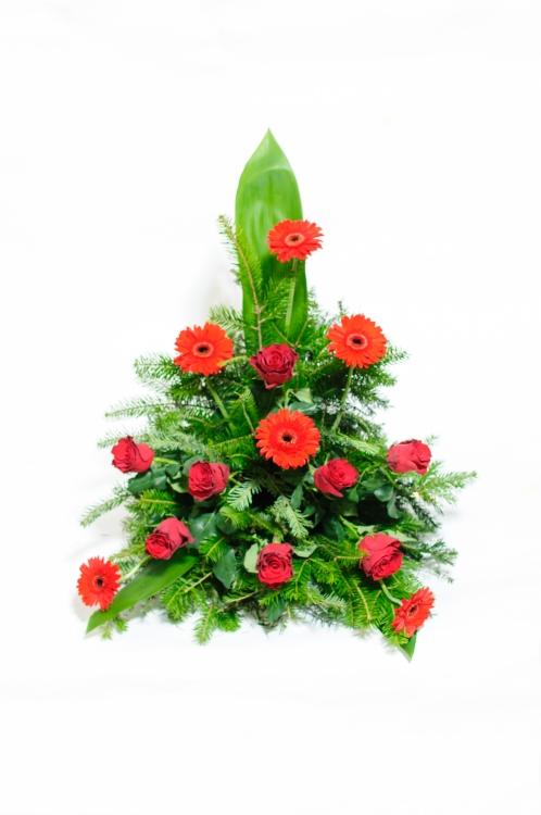 Vypichovaná kytice - gerbery a růže, orientační cena - 1 500Kč