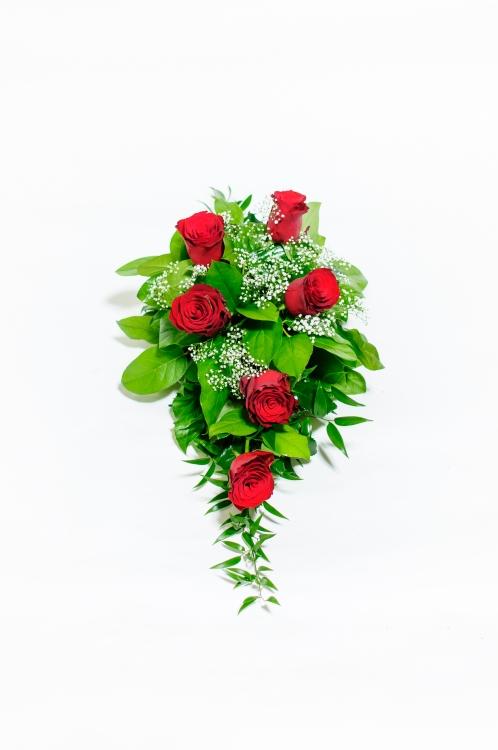 Kytice na rakev - růže, orientační cena - 850Kč