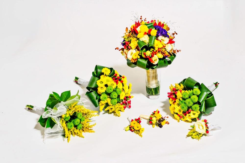 Svatební kytice - mix květů
