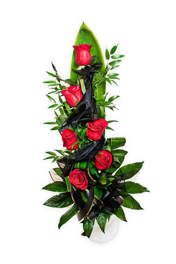 Smuteční kytice - Růže M