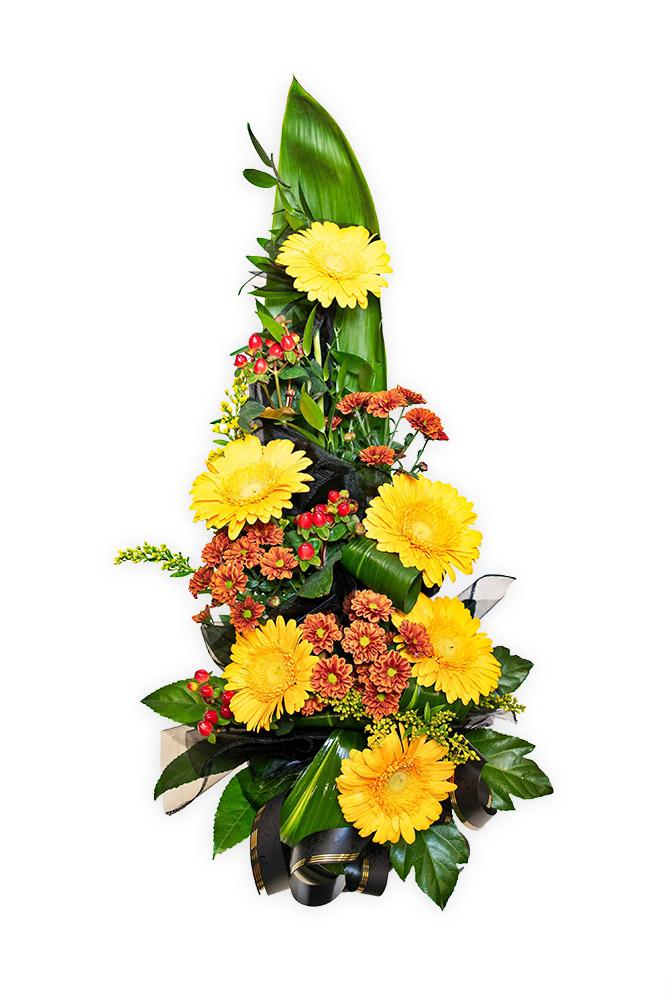 Smuteční kytice - Mix květů M