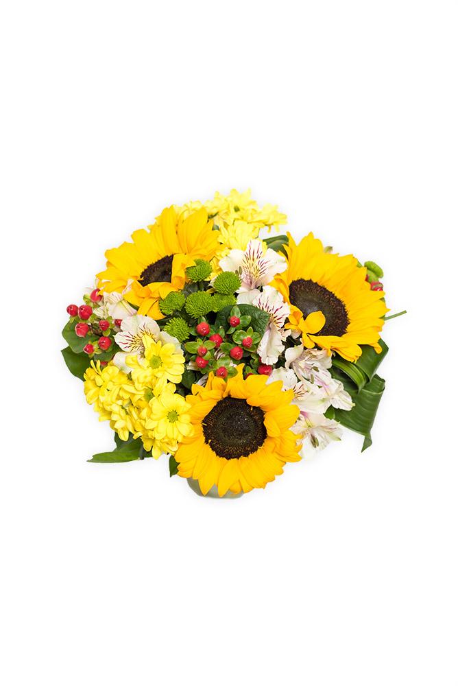 Zářívé slunečnice a kopretiny