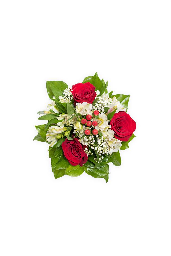 Růže a alstromerie