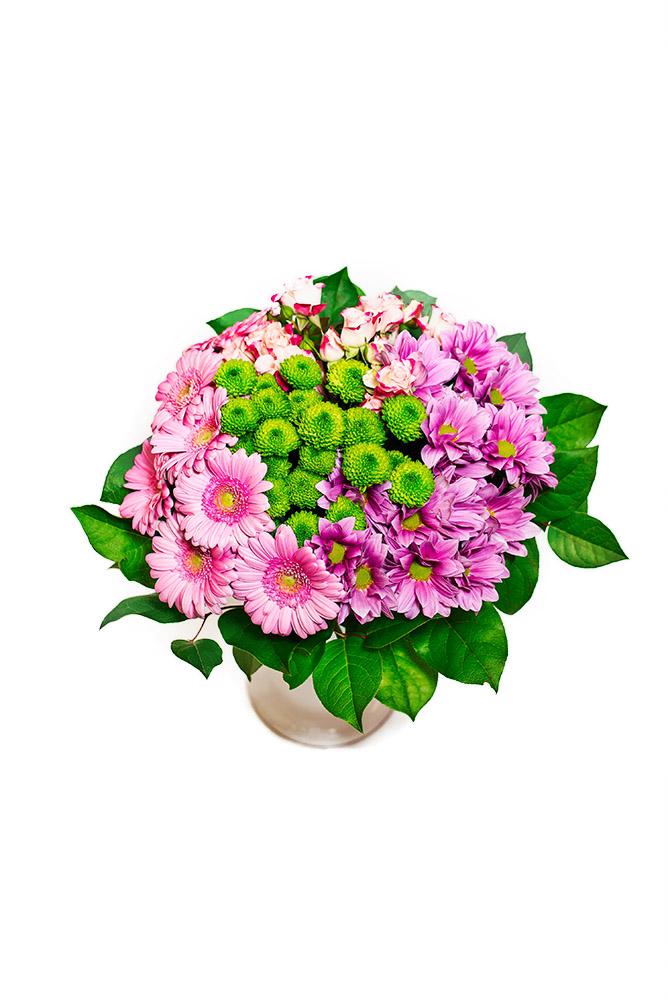 Gerbery, trsové růže a santini