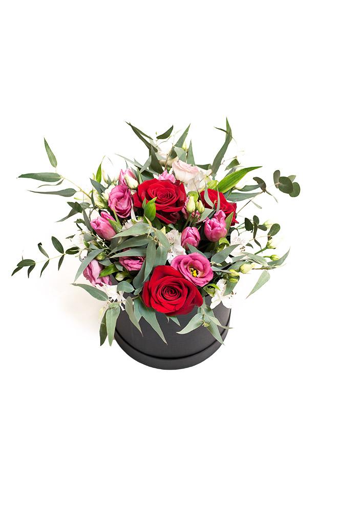 Box plný čerstvých květin L