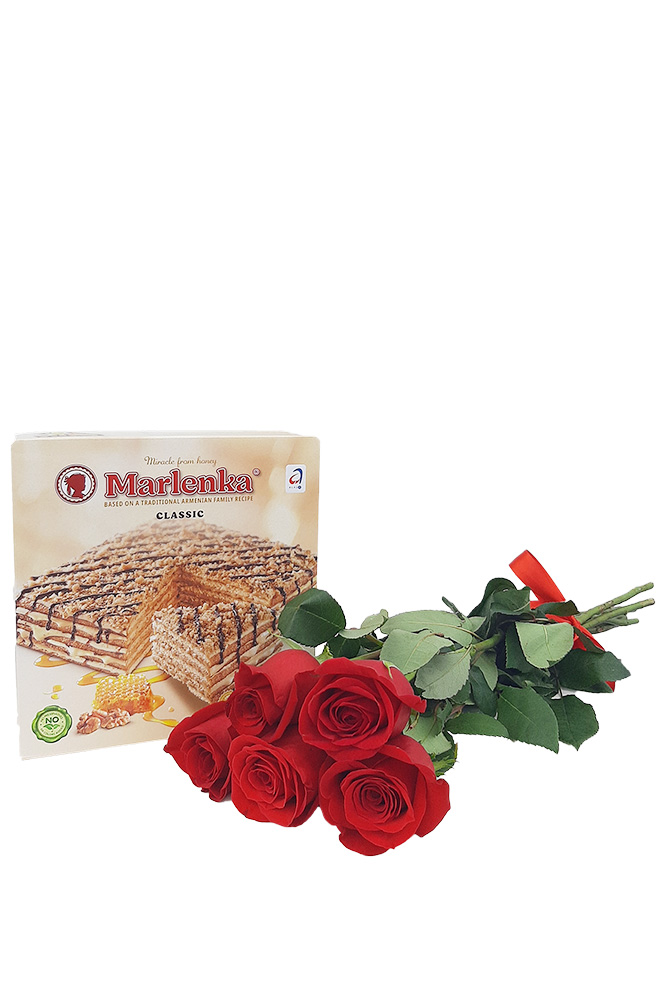 5 RŮŽÍ a Marlenka dort