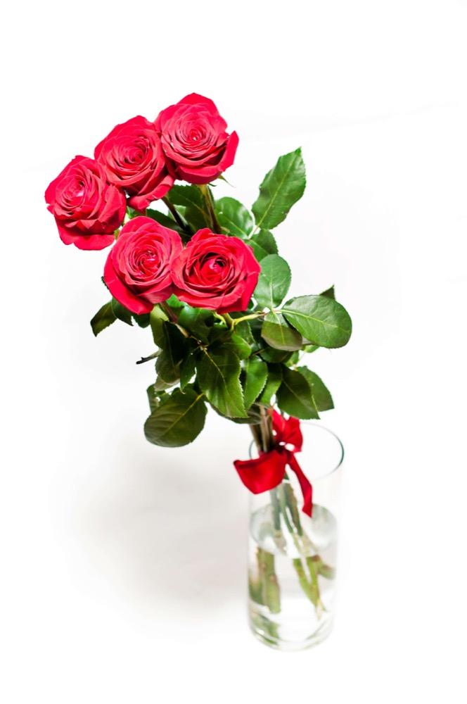5 růží, velký Rose bear, Raffaello a Moet